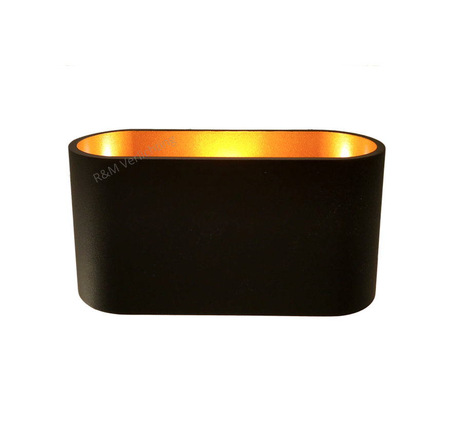 Wall lamp Oval LED black and gold  G9 230v