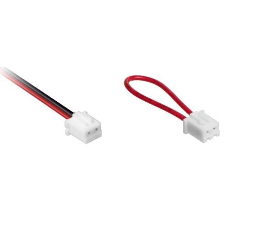Miniplug LED serie verdeler 2-voudig incl.1x brug + 2m kabel gestript
