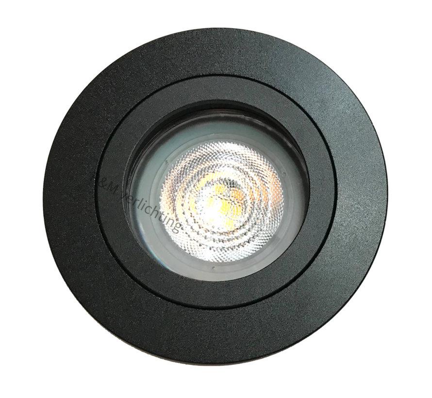 Inbouwspot FIX Blade rond GU10 230v zwart
