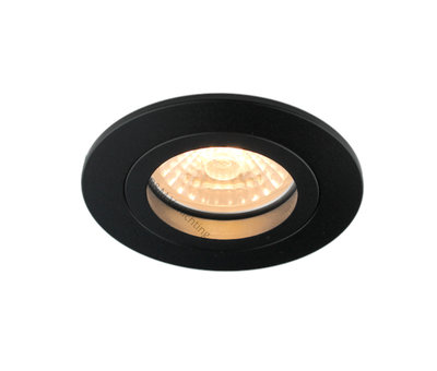 R&M Line Downlight FIX Blade round GU10 230v zwart