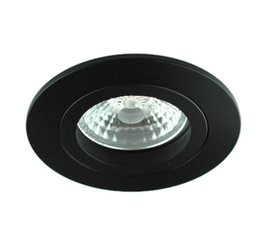Downlight FIX Blade round GU10 230v zwart