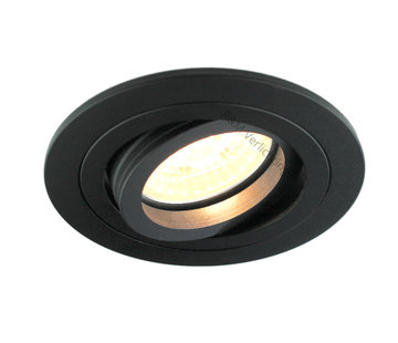 R&M Line Recessed downlight Tilt blade round Black