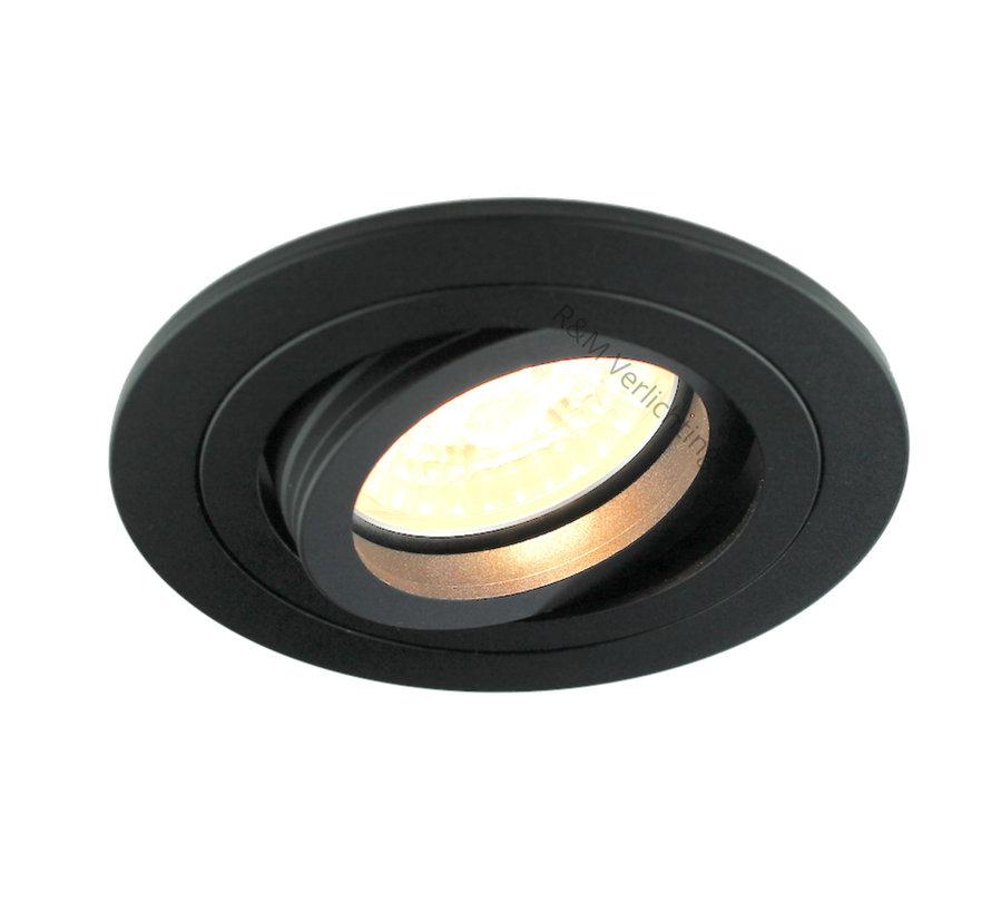 Recessed downlight Tilt blade 50 R Black GU10