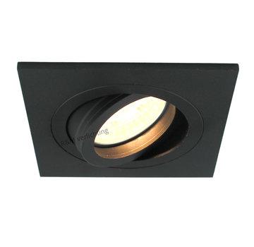 R&M Line Recessed downlight Tilt blade Q black