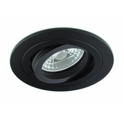 R&M Line LED downlight round black 9w IP65 dimmable