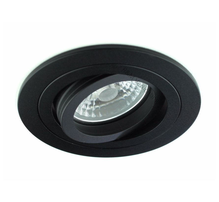 LED downlight black 9 watt 2700k IP65 dimmable