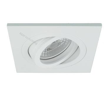 R&M Line LED inbouwspot vierkant wit 8w IP65 dimbaar