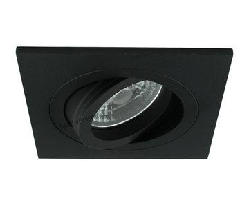 R&M Line LED inbouwspot vierkant zwart 8w IP65 dimbaar