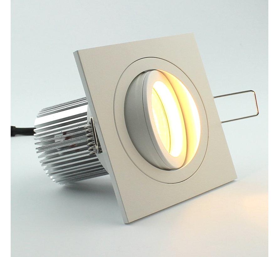 LED inbouwspot Tilt Q wit 8W 2700k IP65 dimbaar