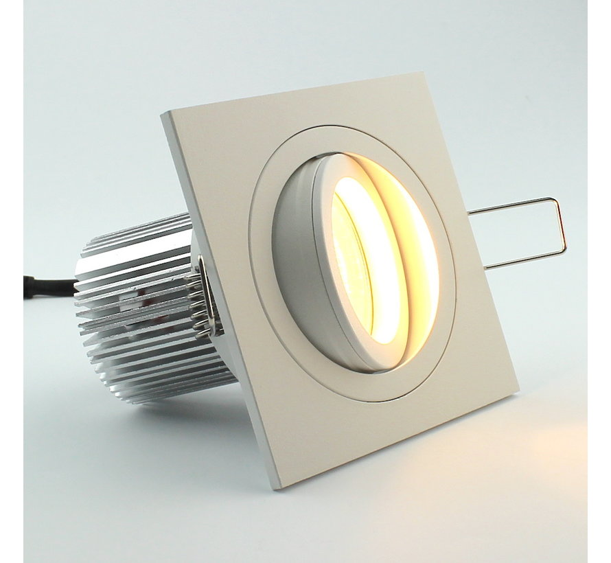 LED square downlight white 9w IP65 2700k dimmable