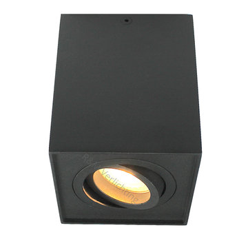 R&M Line Surface-mounted spotlight Obi1 squre black