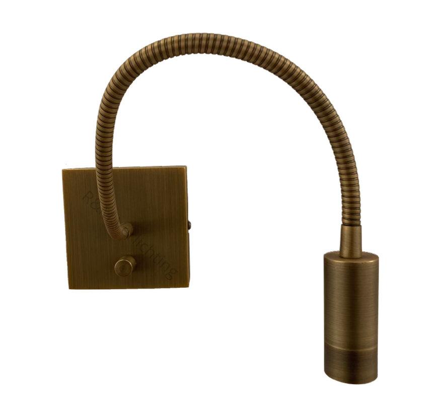 Wandlamp LED flex Blitz brons 3 watt dimbaar