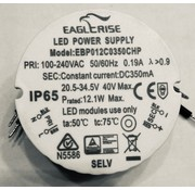 Eaglerise LED DRIVER  12.1W 350MA  IP65 round