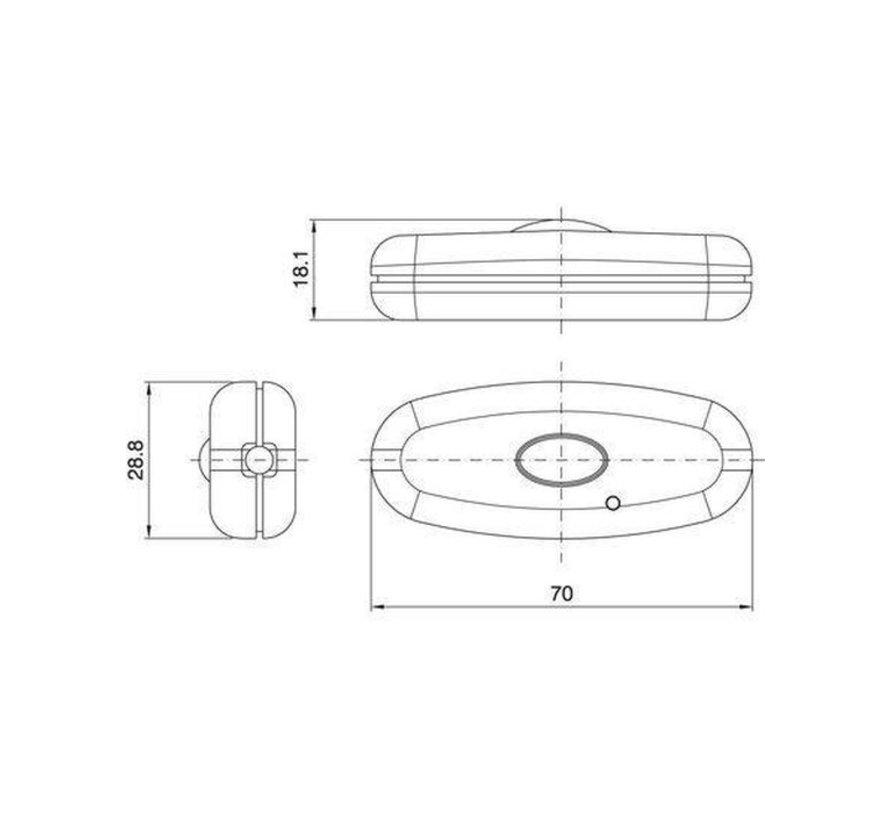 Snoer dimmer LED wit 230Volt 10-150 Watt