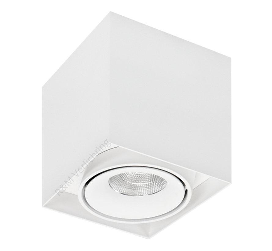 LED opbouw armatuur wit 1x9w 2700K Dimbaar