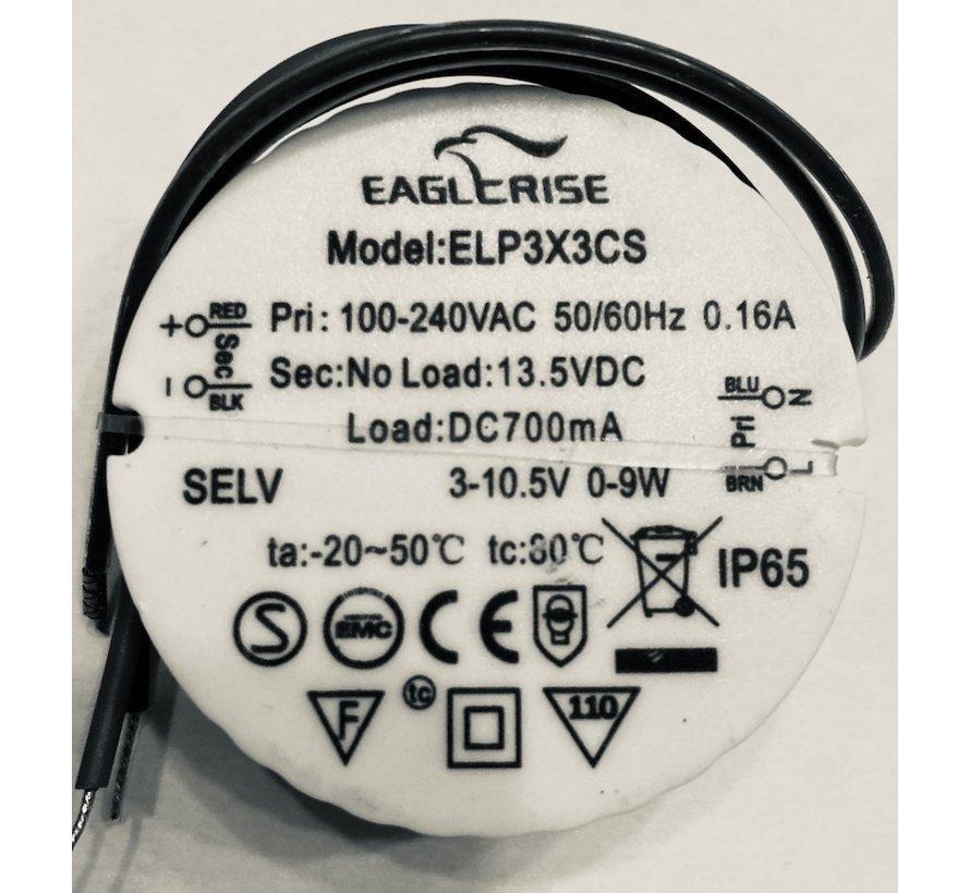 Eaglerise LED driver 7.35 700MA rond ELP3X3CS