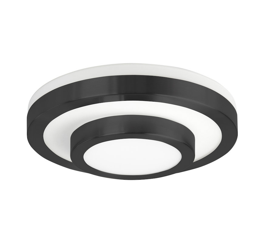 Ceiling lamp LED IP44 black small