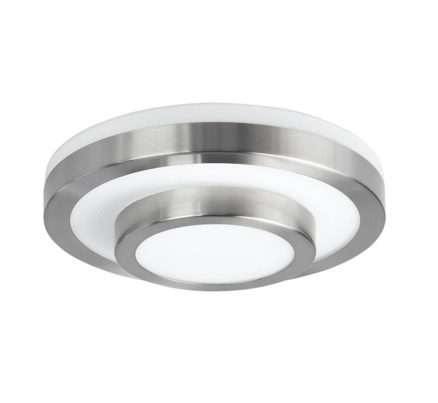 Ceiling lamp LED IP44 satin-nickel small