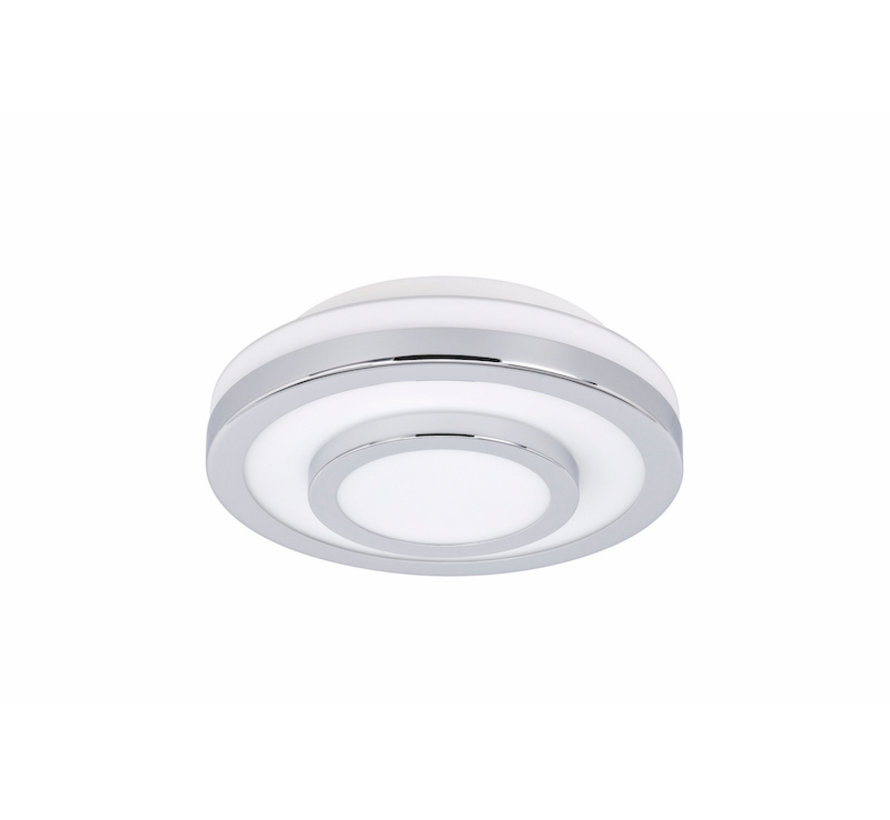 Ceiling lamp LED IP44 chrome small