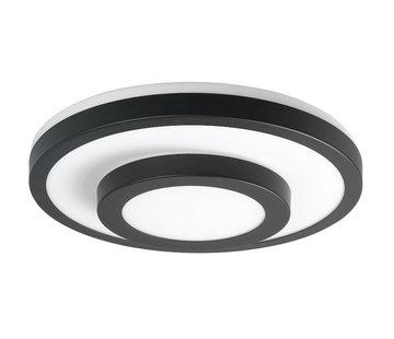 Highlight Plafondlamp IP44 zwart groot