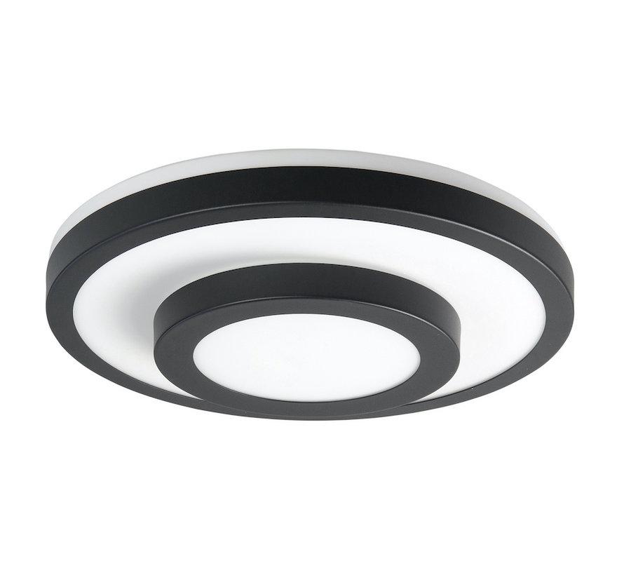 Plafondlamp LED Master Zwart groot IP44