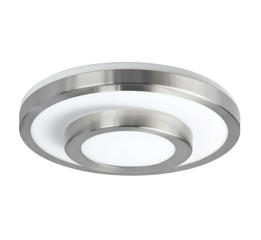 Ceiling lamp LED IP44 satin-nickel large