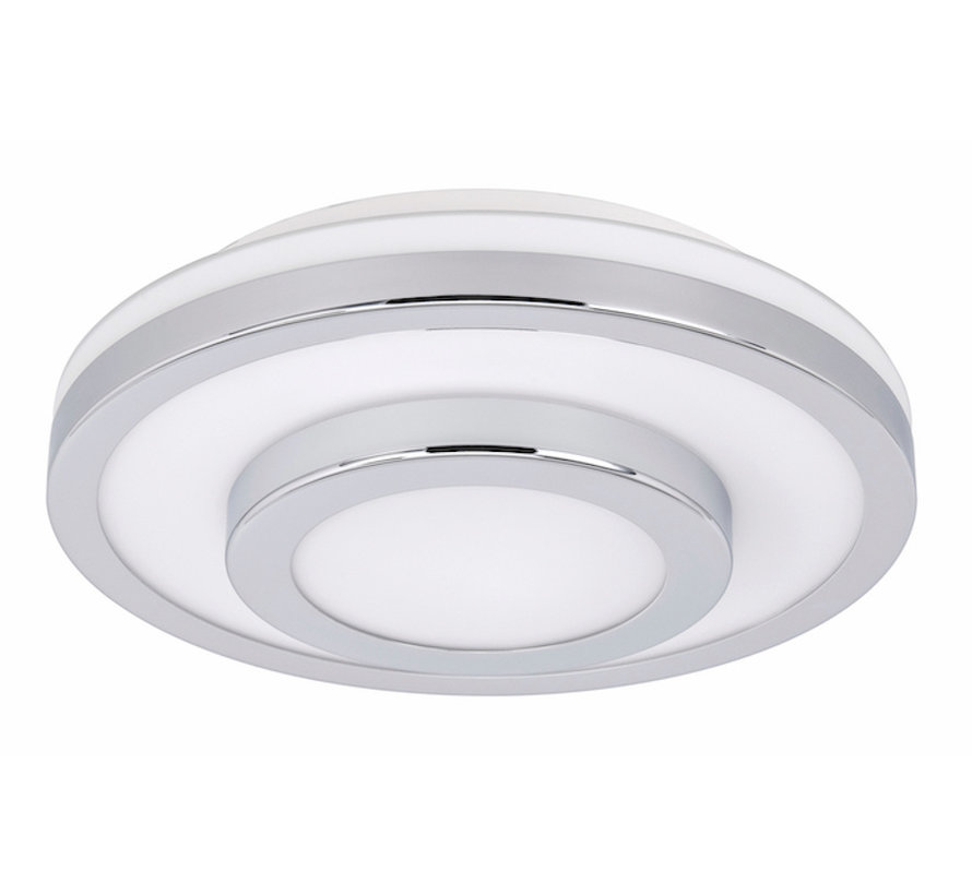 Ceiling lamp LED IP44 chrome large