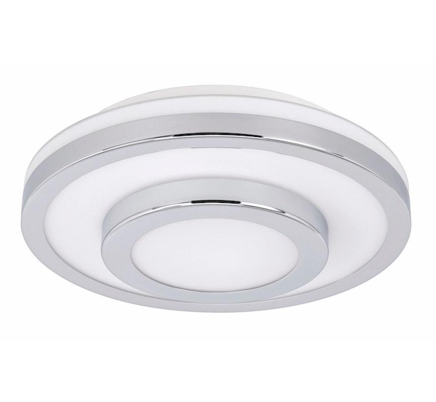 Plafondlamp LED Master chroom groot IP44