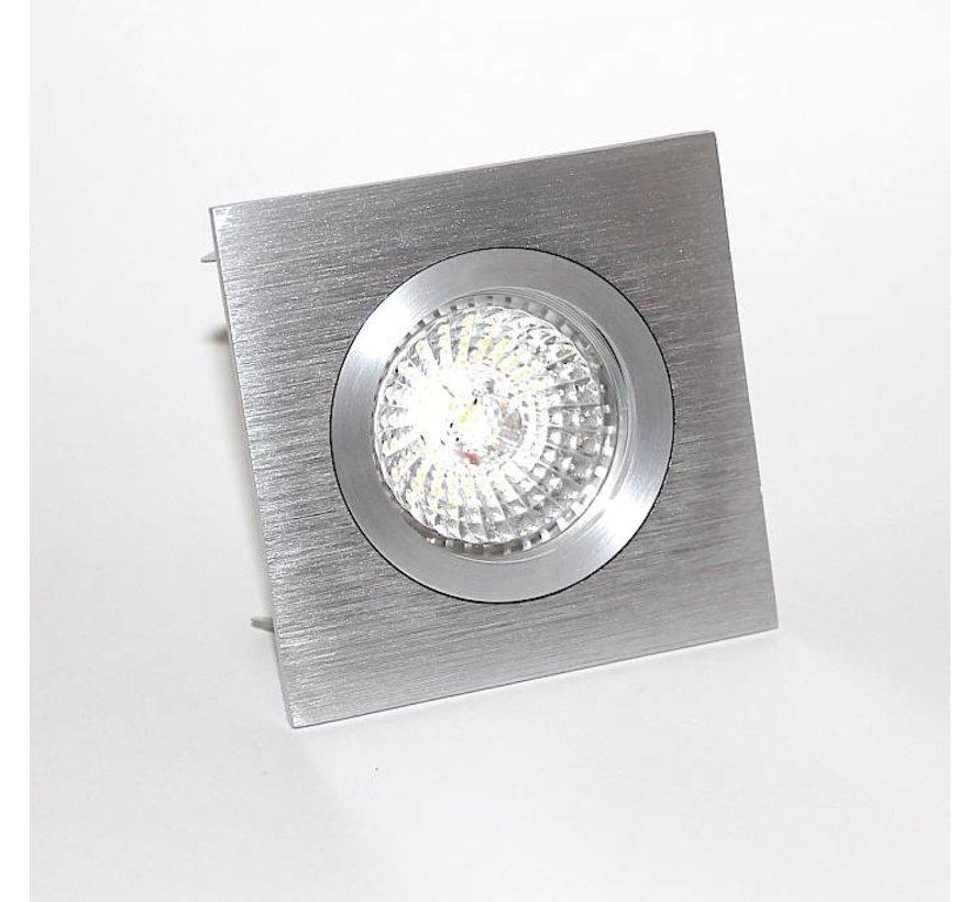 Fix blade Q square recessed downlight GU10  aluminium