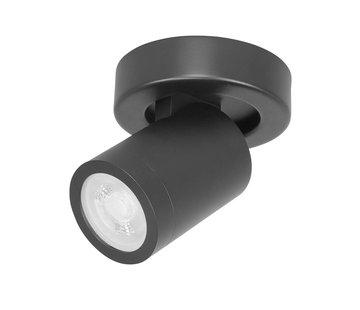 Highlight Bathroom spot Oliver black IP44 GU10