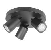 Highlight Round 3-light bathroom spotlight IP44