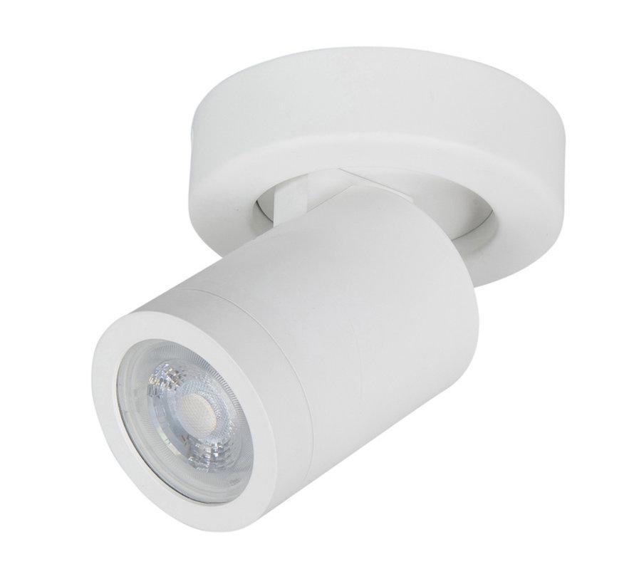 Badkamer spot Oliver wit IP44 GU10 LED