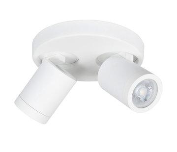 Highlight Badkamer opbouwspot Oliver 2-lichts wit IP44