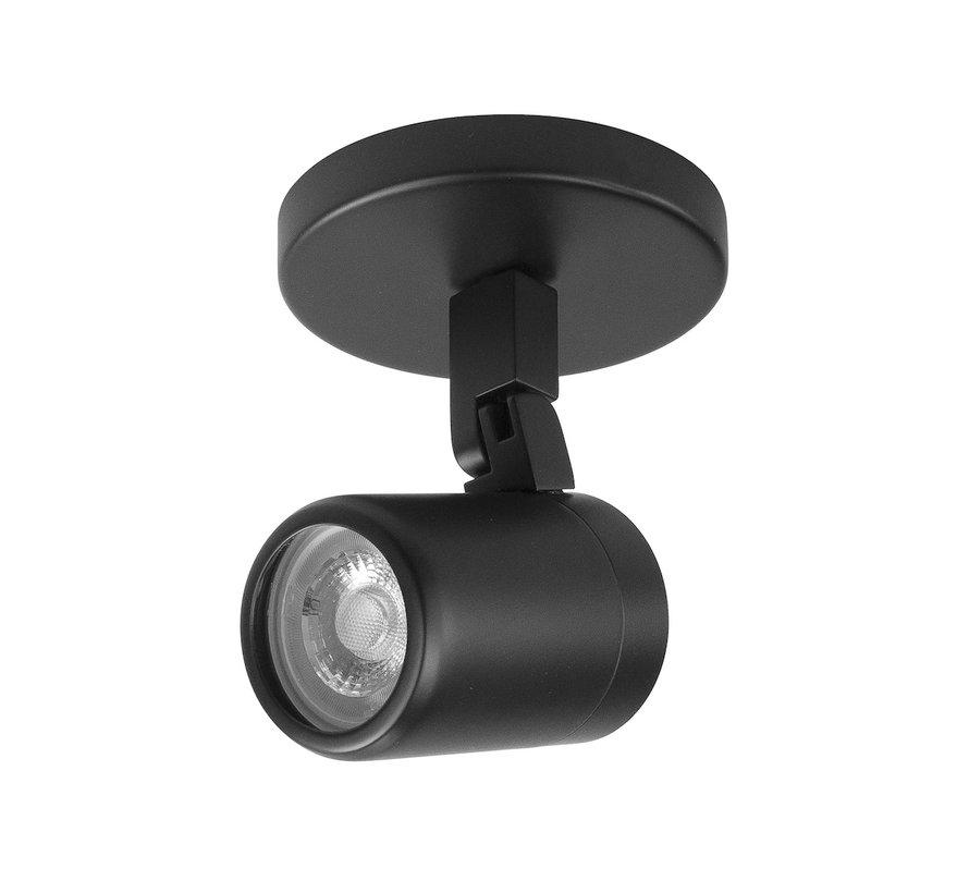 Bathroom surface mounted spotlight RAIN 1-light black GU10 IP44