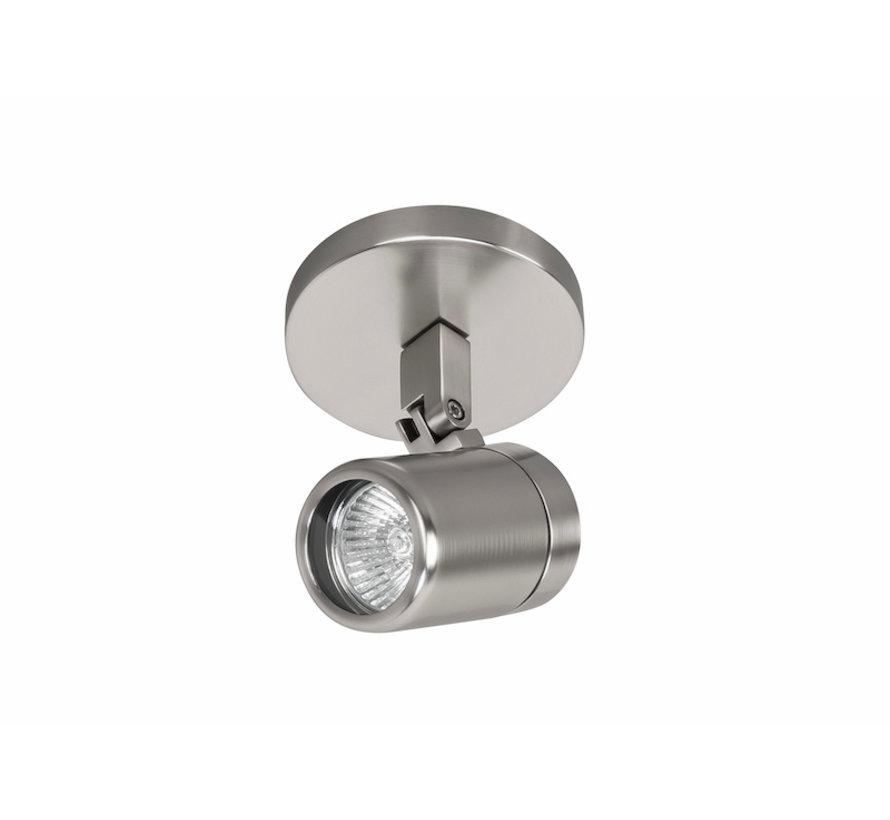 Badkamer opbouwspot RAIN 1-licht geborsteld staal  GU10 IP44