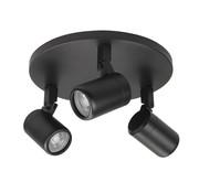 Highlight Bathroom surface mounted spotlight  RAIN 3-lights black