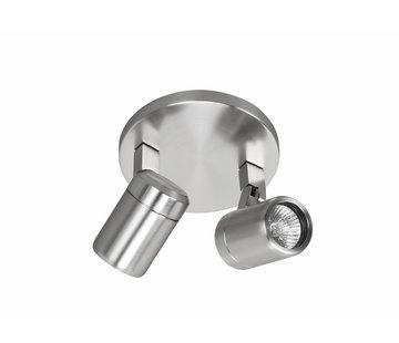 Highlight Bathroom surface mounted spotlight  RAIN 2-lights steel