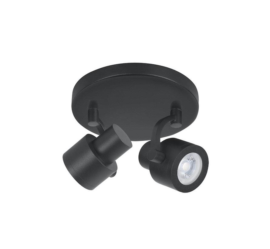 Opbouwspot Alto 2-lichts zwart GU10