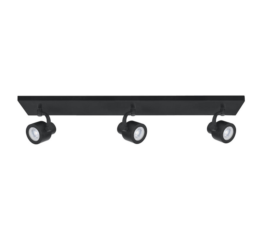 Surface-mounted spot Alto 3-light bar black GU10