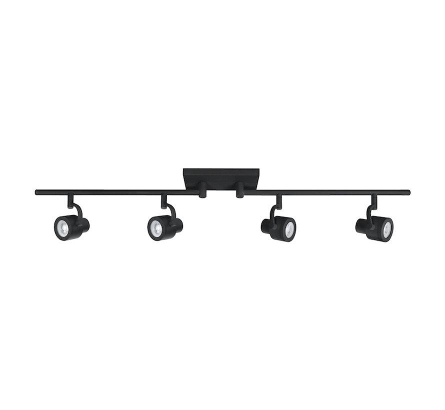 Alto Swing opbouwspot 4-lichts zwart GU10