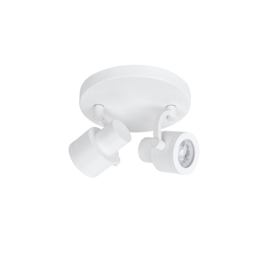 Surface-mounted spot Alto 2-lights round white GU10