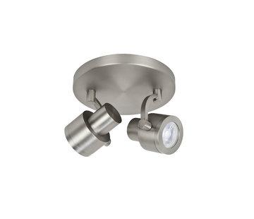 Highlight Surface-mounted spotlight Alto 2-lights steel