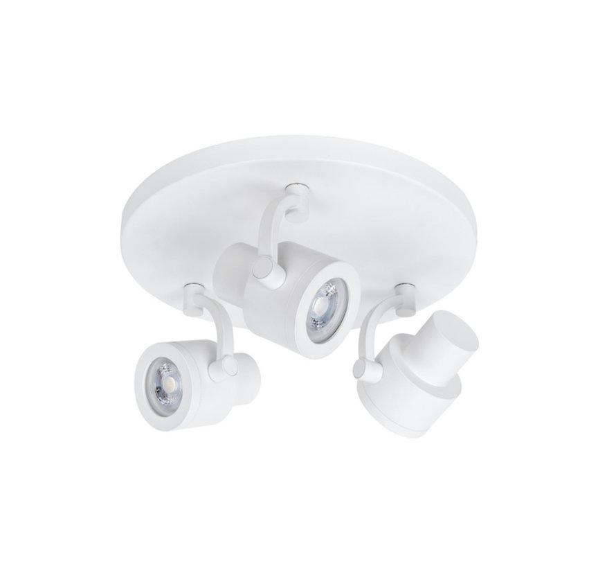 Surface-mounted spotlight Alto 3-lights round white GU10