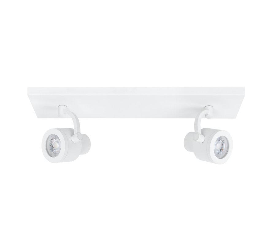 Balk opbouwspot Alto 2-lichts wit GU10
