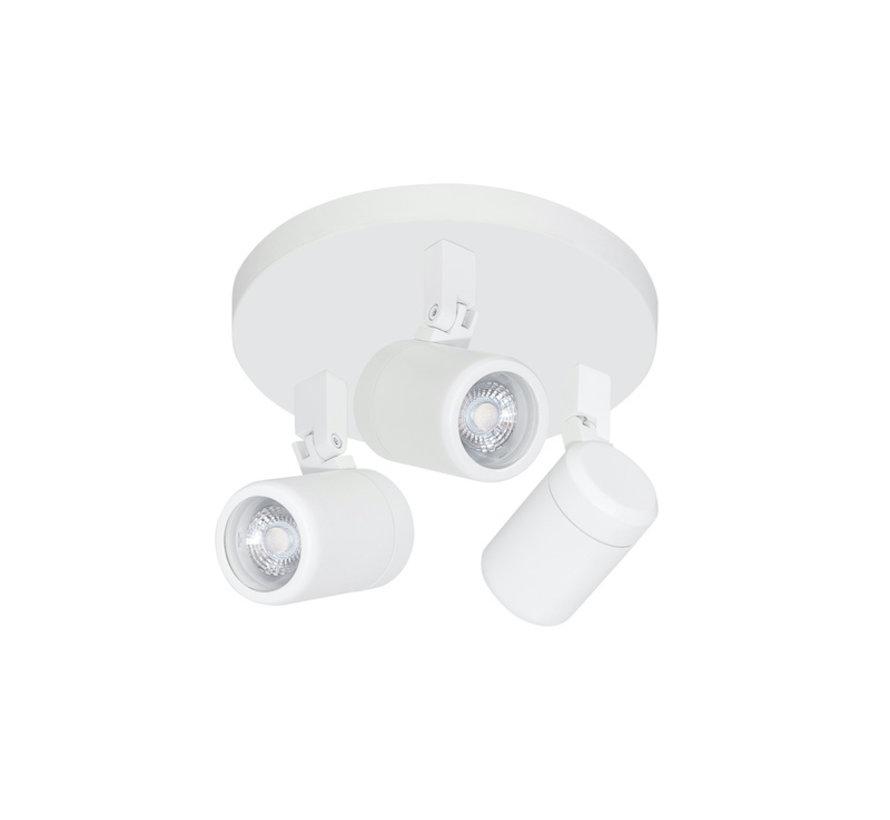 Badkamer opbouwspot RAIN 3-lichts white GU10 IP44