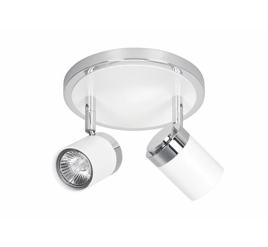 Surface-mounted spotlight Athena round 2-lights GU10 white