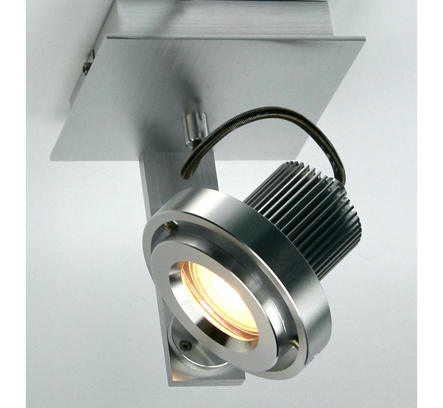 Opbouwspot Ring 1-licht GU10 5.5w=50w LED aluminium