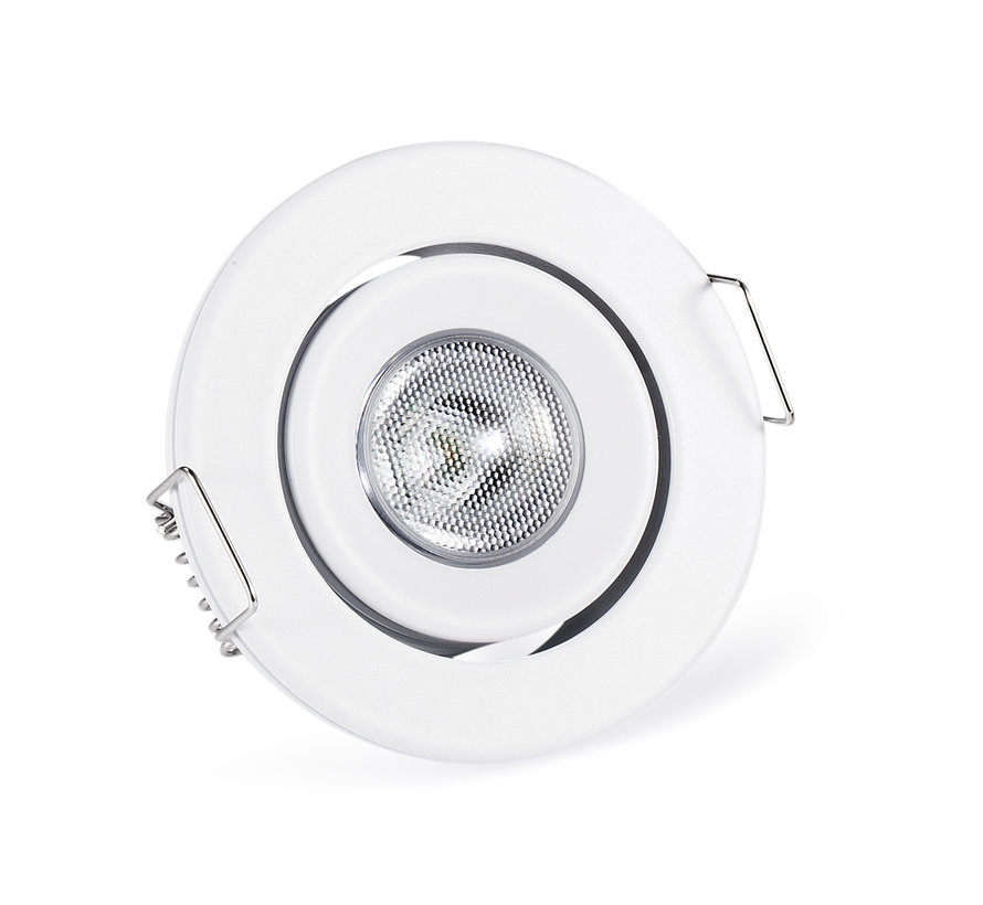 Downlight IP65 Cyprus LED 3watt 2700K 220Lm dimmable white