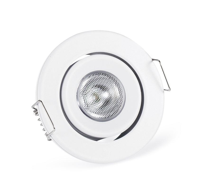 Inbouwspot IP65 Cyprus LED 3watt 2700K 220Lm dimbaar wit