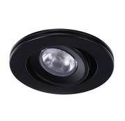 R&M Line Downlight Cyprus LED 3W 2700k IP65 black
